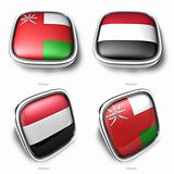 3d oman and yemen flag button