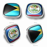 3d Bahamas and Belize flag button