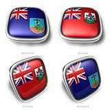 3d Montserrat and Bermuda flag button