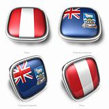3d Peru and Falkl Islands flag button