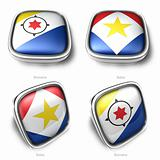 3d Bonaire and Saba flag button