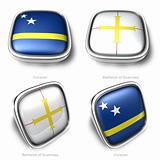 3d Curacao and Bailiwick Guernseyflag button