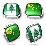 3d NorfolkIsland Cocos flag button