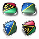 3d Vanuatu and Solomon Islands flag button