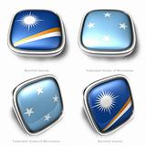 3d Marshall Islands and Federated States of micronesia flag button