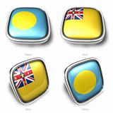 3d Palau and Niue flag button