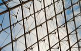 Glass - metal construction