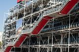 Pompidou red stairs