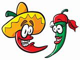 Mexican Cartoon Peppers