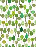 Green woods pattern