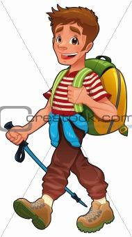 Trekking boy.
