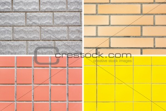 Four style of tiles (wall or floor)
