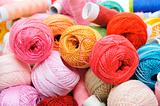 crochet thread and sewing thread