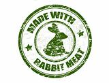 made with rabbit meat stamp