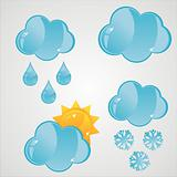 glossy clouds icons