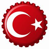 turkey stylized flag on bottle cap