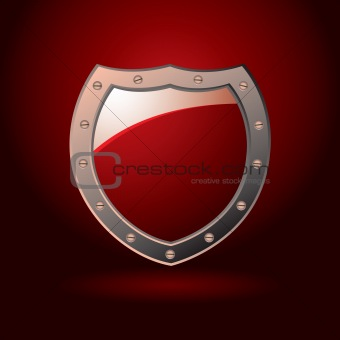 Red shield blank