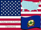 vermont state illustration