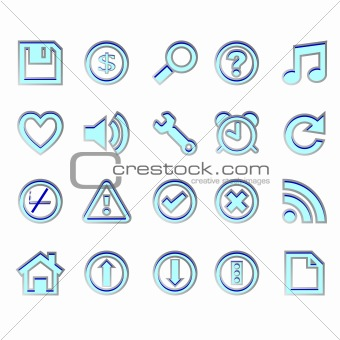 web blue icons