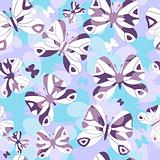 Repeating pattern with butterflies