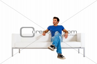 man on the sofa