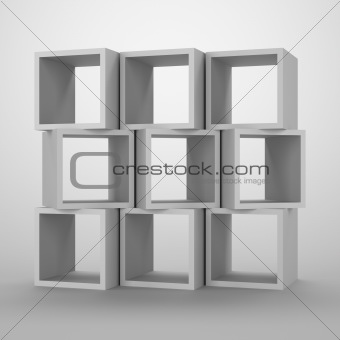 Arrangement of cubes.