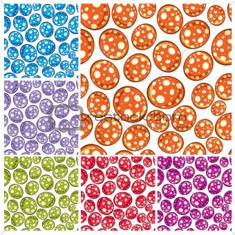 Toy balls seamless pattern.