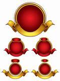 Round emblems set.