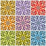 Flower shaped crystal seamless pattern.