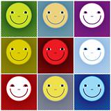 Smiley faces icons.