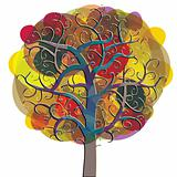 Multicolored tree icon.