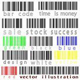 bar codes vector against white