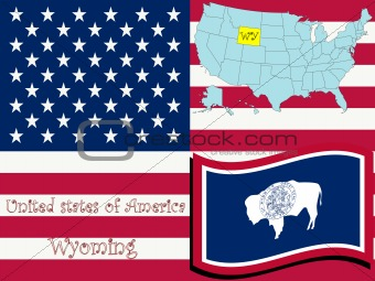 wyoming state illustration