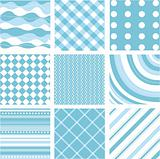 seamless blue patterns with fabric texture
