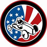 american Soap box derby car with stars and stripes