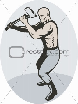 Man about to swing an axe