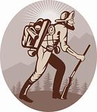 Miner prospector hunter trapper hiking