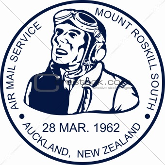Postage stamp of an Aviator or ace pilot