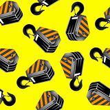 crane hooks seamless pattern