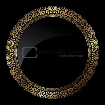 Circular gold frame