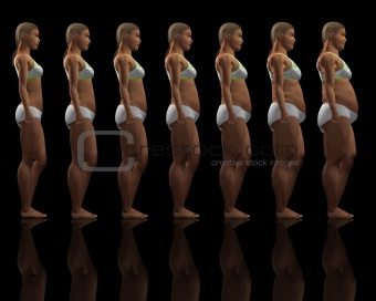 Slim to overweight female