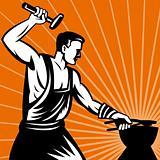 Blacksmith with hammer