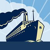 Ocean liner passenger boat ship