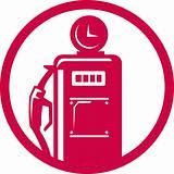 Gasoline pump filling station