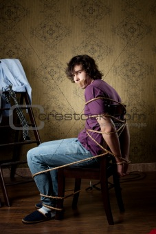 Tied young man