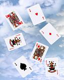 cloud gaming with playing cards