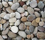 Grey pebbles as background 