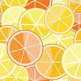 orange grapefruit seamless pattern