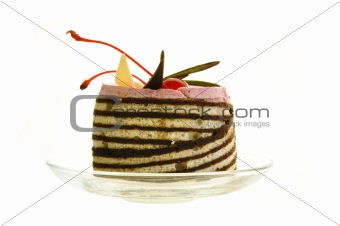 Cake with a cherry