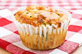 Freshly baked spinach and cheese muffins ready to be served